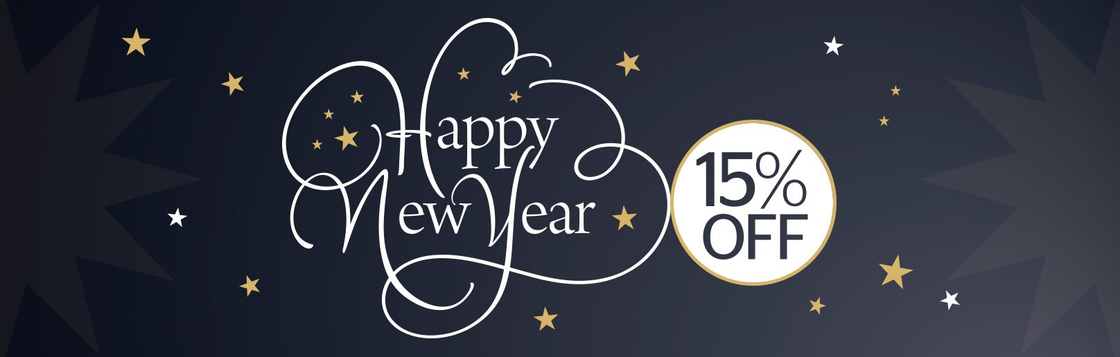 happy new year 15% off salon services during January and February 2018