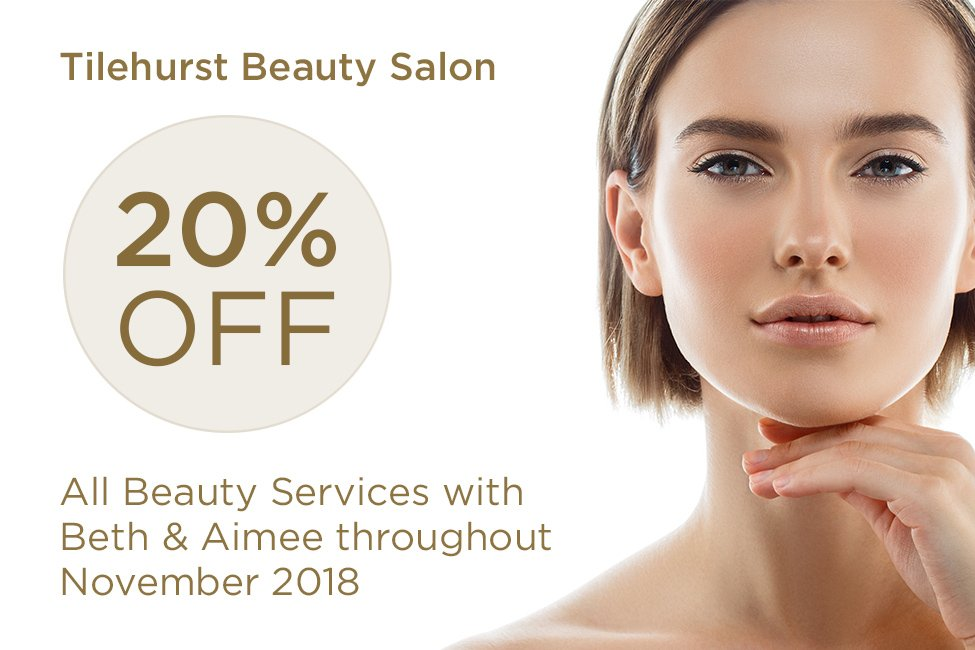 20 percent off all beauty treatments at Forresters Tilehurst Beauty Salon in Halls Road - throughout November 2018