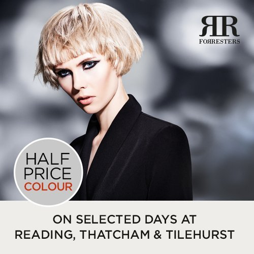 Half Price Colour at Reading, Thatcham and Tilehurst salons on selected days