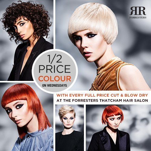 Extended offer – Half Price Colour at Thatcham salon on Wednesdays
