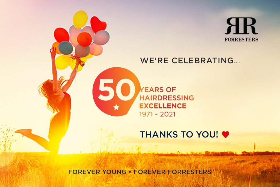 Celebrating 50 years of hairdressing excellence, thanks to you, our amazing clients