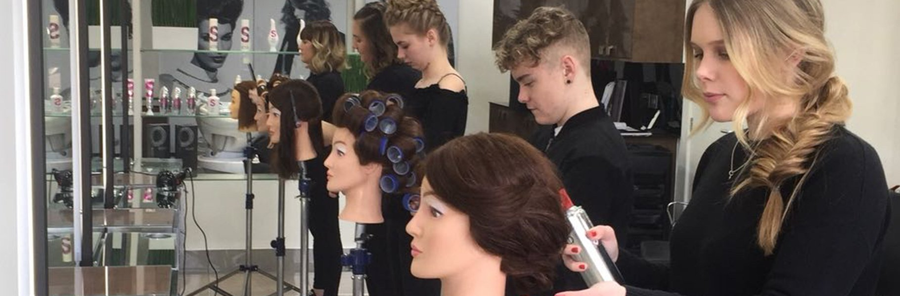 Apprentices at the Forresters Hairdressing Training Academy