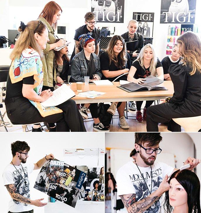 collaboration between the TIGI Inspirational Youth 2018 intake