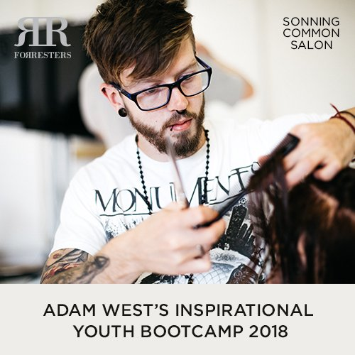 Adam West - Forresters Sonning Common Salon enjoying the TIGI Inspirational Youth Bootcamp in 2018