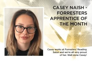 Casey Naish is our Apprentice Of The Month
