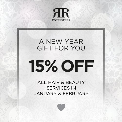 Our new year gift to you – 15% off in January and February