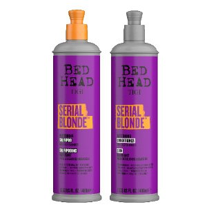 Bed Head serial blonde restoring shampoo, with keratin and amino acids, helps to revive and care for chemically treated hair.