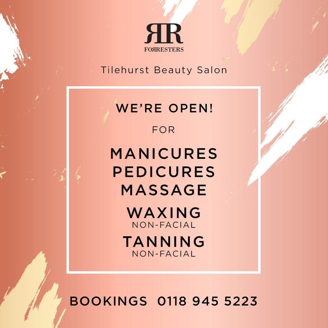 Forresters Tilehurst Beauty Salon – open again!