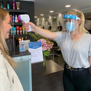 Taking your temperature at Forresters Abingdon hairdressers