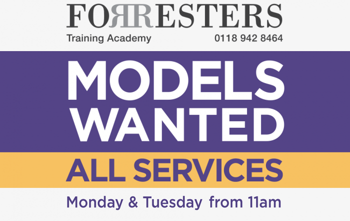 Forresters Hairdressing Training Academy - Models Wanted