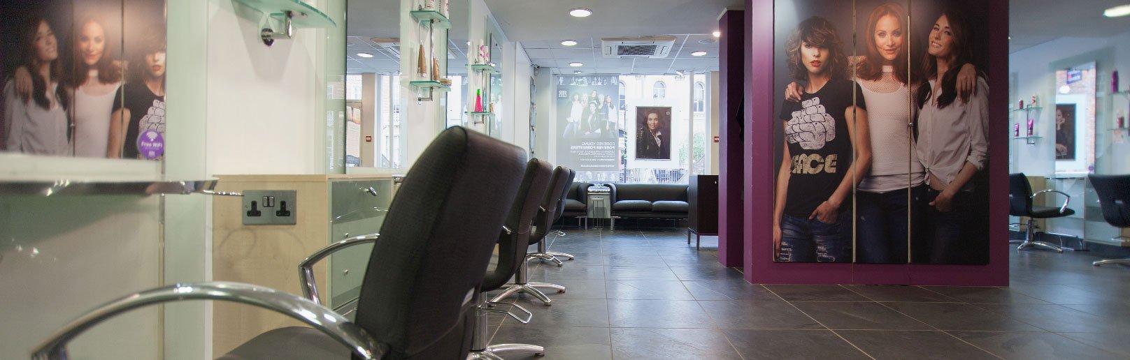 Forresters Abingdon hair salon interior view 1