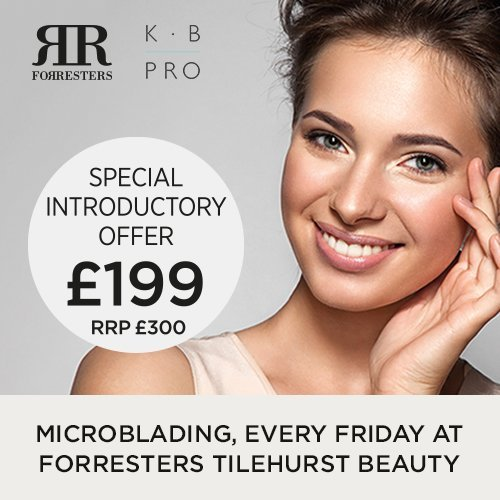NEW – eyebrows Microblading available every Friday at our Tilehurst Beauty salon