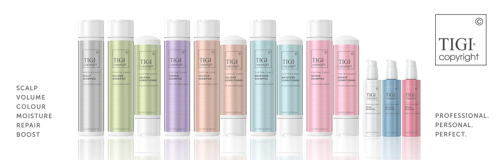 TIGI Copyright Care Retail Product Range