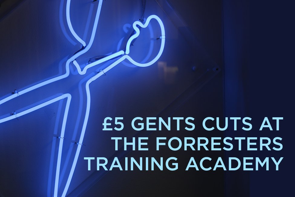 £5 gents haircut with one of our trainees at Forresters Training Academy Tilehurst