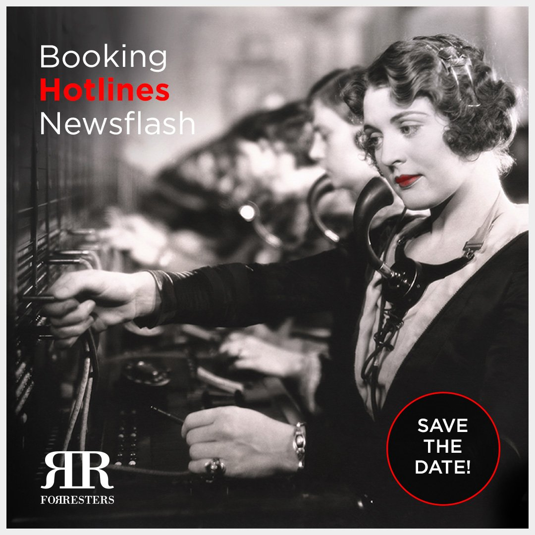 Booking Hotlines update – save the date!
