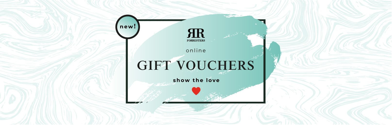 A Forresters Gift Voucher to alert people to the fact that they can buy an online Forrester Gift Voucher