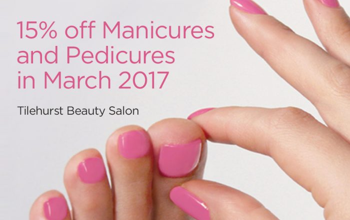 15% off a Jessica Geleration manicure or pedicure at Forresters Tilehurst Beauty salon in March 2017