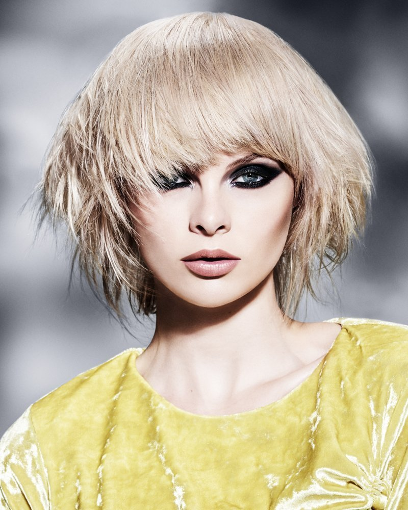 Maisie - ash blonde mid length textured bob hair style from the Forresters Special Effects Collection