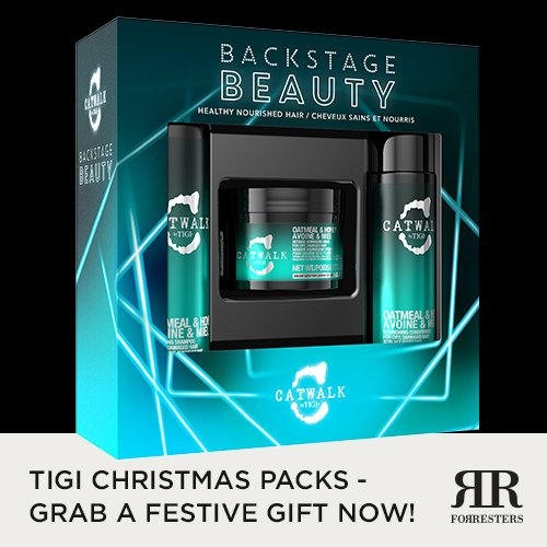 TIGI Christmas Gift Packs, available in all Forresters Hair Salons now