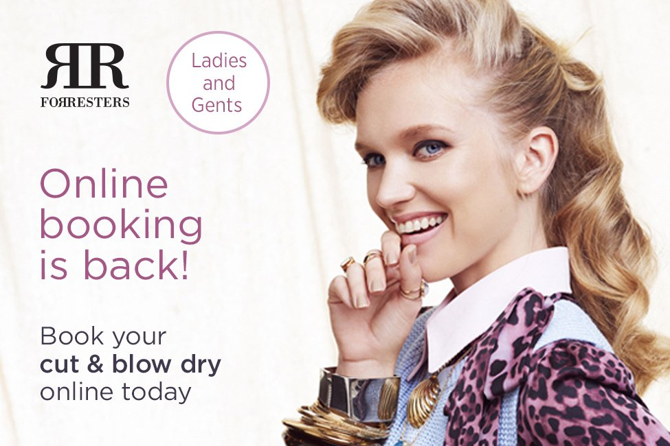 online booking service is now open again for cuts and blow dry services