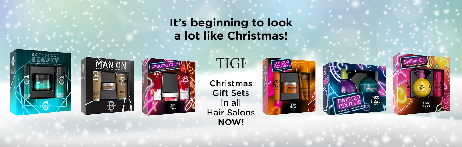 TIGI Christmas Gift Packs are available in all Forresters Hair Salons now