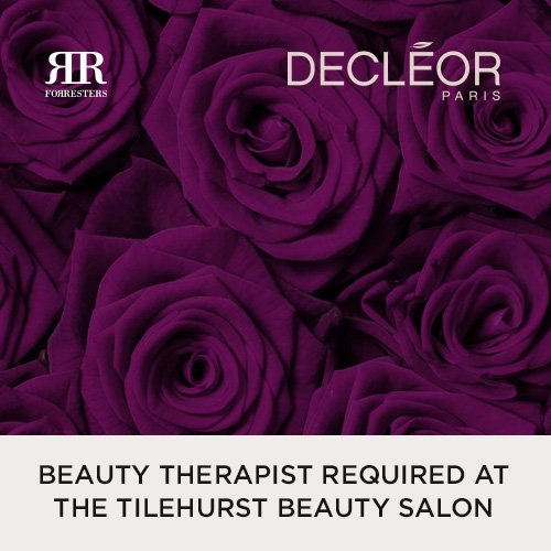 Beauty Therapist Required – Forresters Tilehurst Beauty Salon