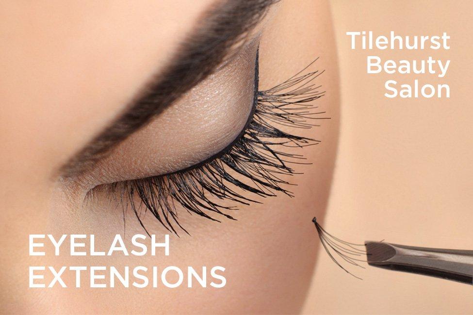 Eye lash extensions at Forresters Tilehurst Beauty Salon
