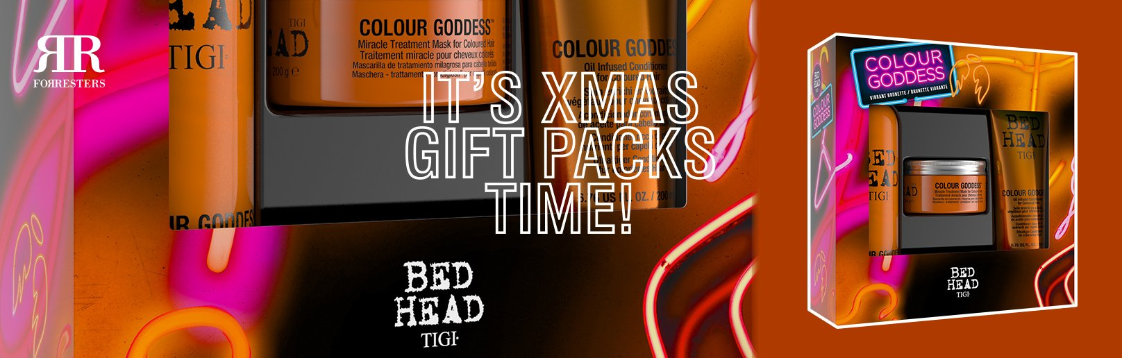 TIGI Christmas Gift Packs available now in all Forresters Hair Salons