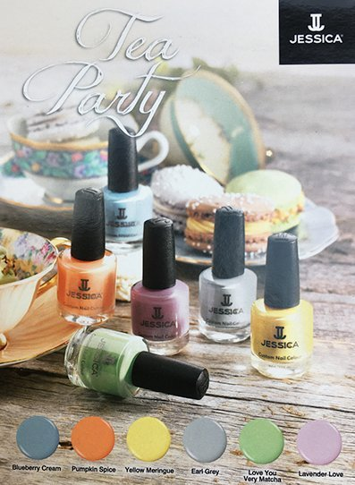 Jessica nail system tea party colour swatch for Spring 2019