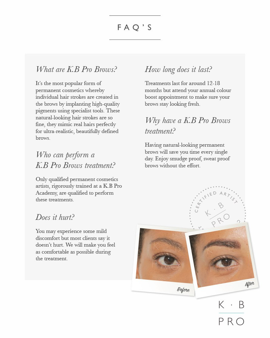 Microblading with Natalie at the Forresters Abingdon Beauty salon. Contact Natalie for details.